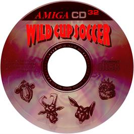 Artwork on the CD for Wild Cup Soccer on the Commodore Amiga CD32.