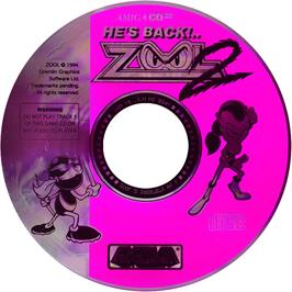 Artwork on the CD for Zool 2 on the Commodore Amiga CD32.