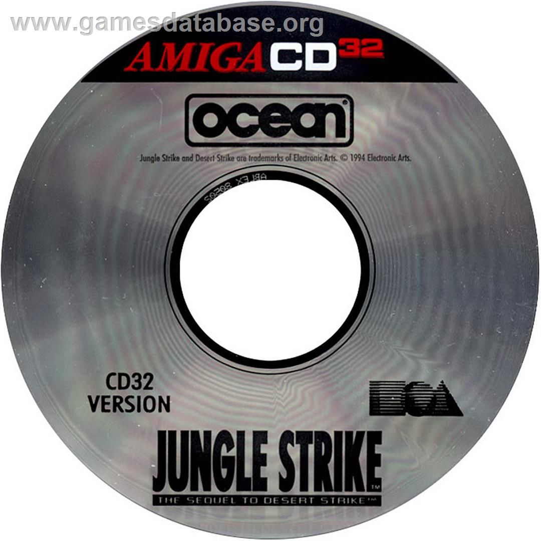 Jungle Strike - Commodore Amiga CD32 - Artwork - CD