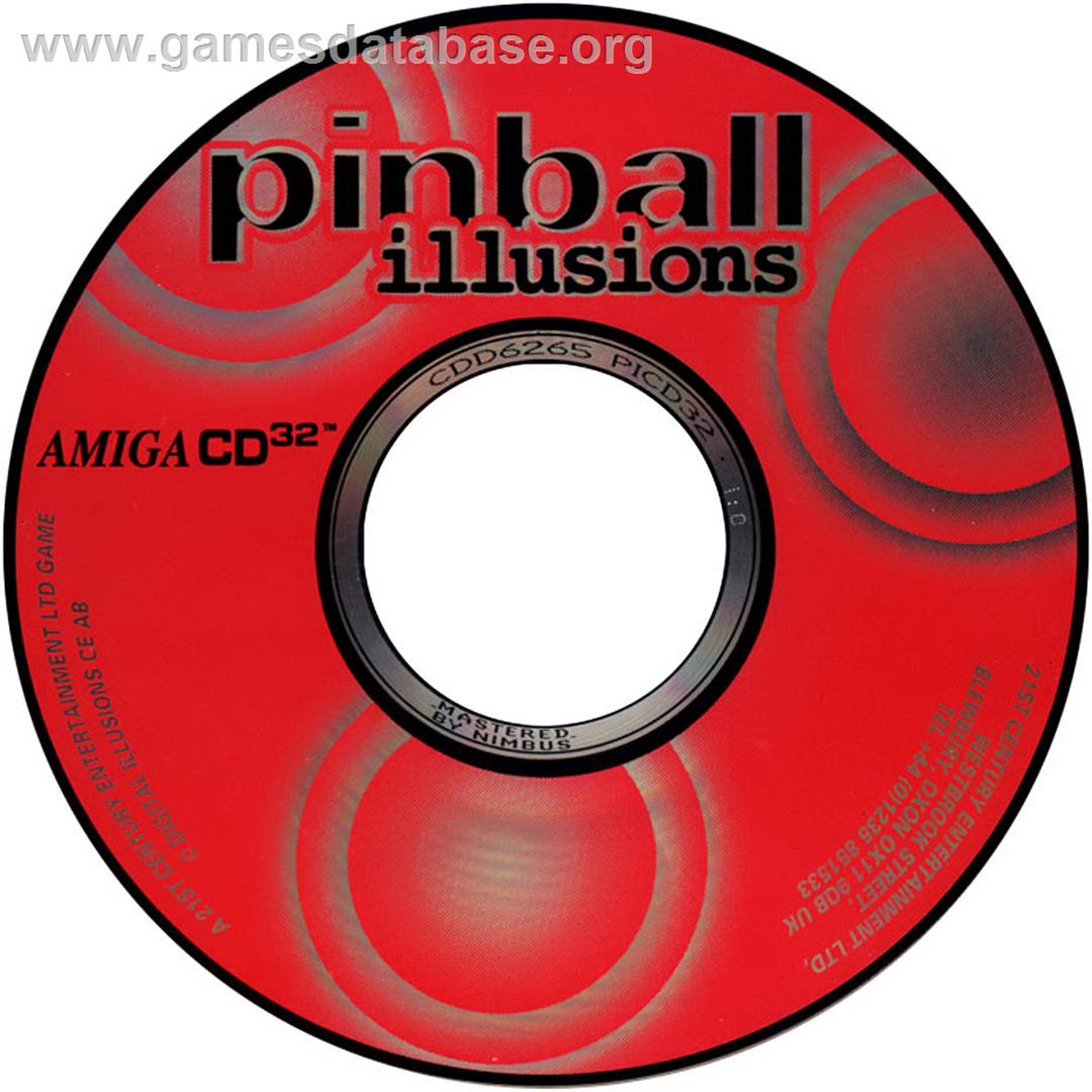 Pinball Illusions - Commodore Amiga CD32 - Artwork - CD