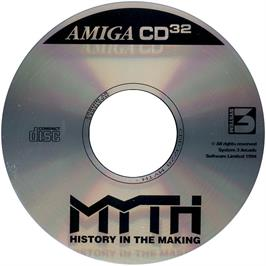 Artwork on the Disc for Myth: History in the Making on the Commodore Amiga CD32.