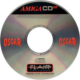 Artwork on the Disc for Oscar on the Commodore Amiga CD32.
