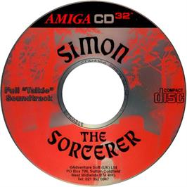 Artwork on the Disc for Simon the Sorcerer on the Commodore Amiga CD32.