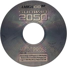 Artwork on the Disc for Subwar 2050 on the Commodore Amiga CD32.