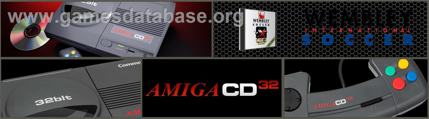 Wembley International Soccer - Commodore Amiga CD32 - Artwork - Marquee