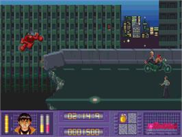 In game image of Akira on the Commodore Amiga CD32.