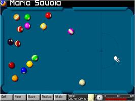 In game image of Arcade Pool on the Commodore Amiga CD32.