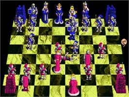 In game image of Battle Chess on the Commodore Amiga CD32.