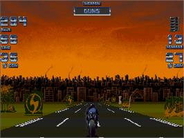 In game image of Black Viper on the Commodore Amiga CD32.