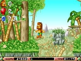 In game image of Brian the Lion on the Commodore Amiga CD32.