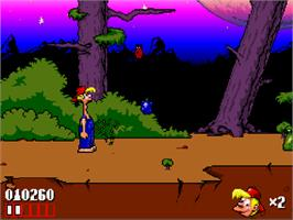 In game image of Bubba 'n' Stix on the Commodore Amiga CD32.