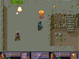 In game image of Chaos Engine on the Commodore Amiga CD32.