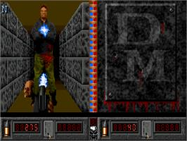 In game image of Death Mask on the Commodore Amiga CD32.