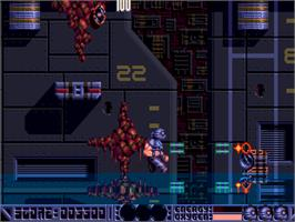 In game image of Deep Core on the Commodore Amiga CD32.