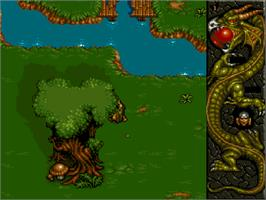 In game image of Dragonstone on the Commodore Amiga CD32.