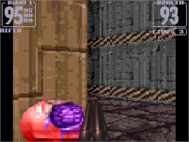 In game image of Fears on the Commodore Amiga CD32.