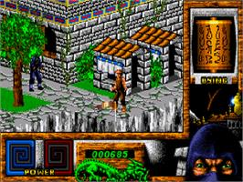 In game image of Last Ninja 3 on the Commodore Amiga CD32.
