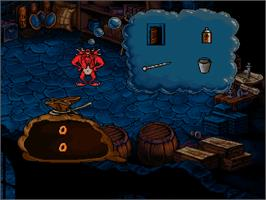 In game image of Litil Divil on the Commodore Amiga CD32.