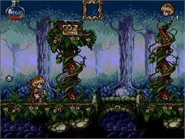 In game image of Misadventures of Flink on the Commodore Amiga CD32.