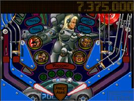 In game image of Pinball Illusions on the Commodore Amiga CD32.