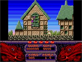 In game image of Seven Gates of Jambala on the Commodore Amiga CD32.
