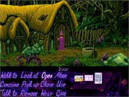 In game image of Simon the Sorcerer on the Commodore Amiga CD32.