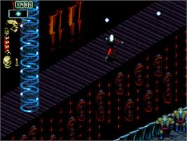 In game image of Skeleton Krew on the Commodore Amiga CD32.
