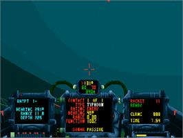 In game image of Subwar 2050 on the Commodore Amiga CD32.