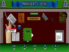 In game image of Super League Manager on the Commodore Amiga CD32.