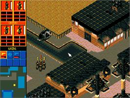In game image of Syndicate on the Commodore Amiga CD32.