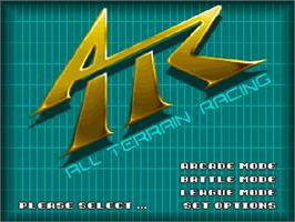 Title screen of ATR: All Terrain Racing on the Commodore Amiga CD32.