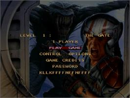 Title screen of Alien Breed 3D on the Commodore Amiga CD32.