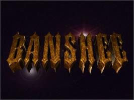 Title screen of Banshee on the Commodore Amiga CD32.