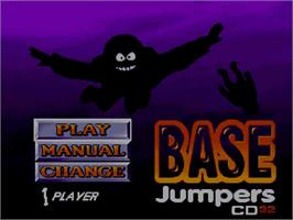Title screen of Base Jumpers on the Commodore Amiga CD32.