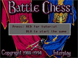 Title screen of Battle Chess on the Commodore Amiga CD32.