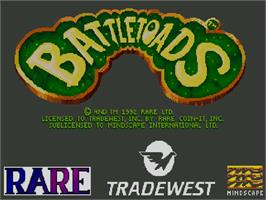 Title screen of Battle Toads on the Commodore Amiga CD32.