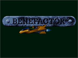 Title screen of Benefactor on the Commodore Amiga CD32.