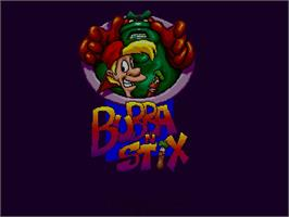 Title screen of Bubba 'n' Stix on the Commodore Amiga CD32.