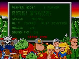 Title screen of Bump 'n' Burn on the Commodore Amiga CD32.