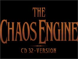 Title screen of Chaos Engine on the Commodore Amiga CD32.