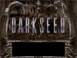 Title screen of Dark Seed on the Commodore Amiga CD32.
