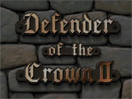 Title screen of Defender of the Crown 2 on the Commodore Amiga CD32.