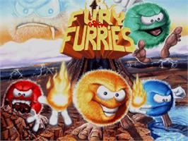Title screen of Fury of the Furries on the Commodore Amiga CD32.