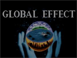 Title screen of Global Effect on the Commodore Amiga CD32.