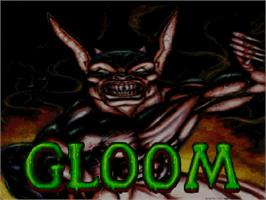 Title screen of Gloom on the Commodore Amiga CD32.