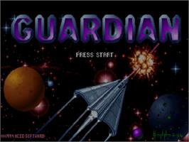 Title screen of Guardian on the Commodore Amiga CD32.