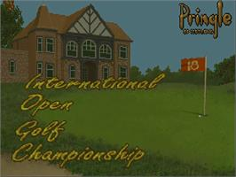 Title screen of International Open Golf Championship on the Commodore Amiga CD32.
