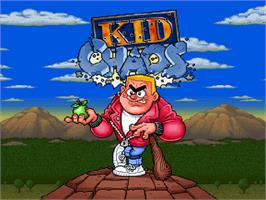 Title screen of Kid Chaos on the Commodore Amiga CD32.