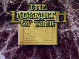 Title screen of Labyrinth of Time on the Commodore Amiga CD32.