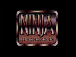 Title screen of Last Ninja 3 on the Commodore Amiga CD32.